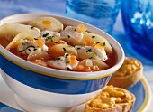 Provencal bouillabaisse with monkfish and aioli croutons