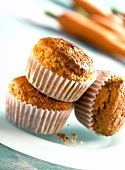 Carrot and nut muffins