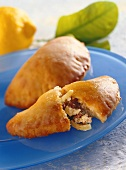 Apple turnovers with quark pastry