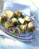 Courgette and ham rolls