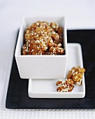 Caramelised walnuts with sesame (dessert from Beijing)