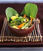 Stir-fried mixed Vegetables in Bowl
