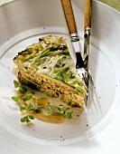 Savoury savoy and mince quiche