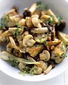 Pan-cooked mushroom dish