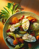 Cod and vegetable soup