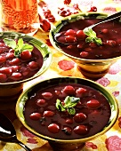 Cold cherry and red wine soup