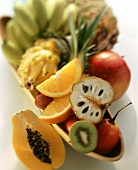 Fruit still life with exotic fruits