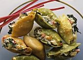 Conchiglie ripiene (Filled pasta shells, Italy)