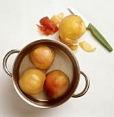 Skinning peaches