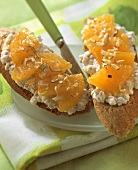 Orange quark bread