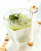 Cucumber and kiwi fruit drink
