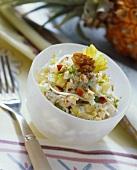 Waldorf salad in a dish