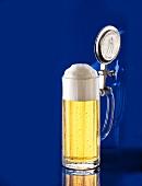 German light beer in tankard