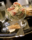 Tabbouleh (bulghur salad with parsley and tomatoes)