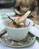 Spicy shrimp soup from Thailand