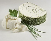 Cream cheese roll with parsley