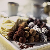 Assortment of Gourmet Chocolate Truffles