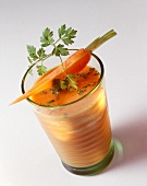 Carrot whey drink with parsley