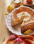 A mandarin quark cake