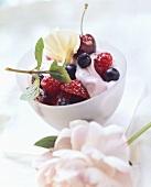 Fruit quark with berries