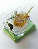 Iced tea with lemon grass