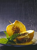 Baked cinnamon apples with vanilla whip