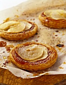 Galette with apple slices