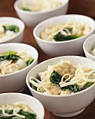 Asian noodle soup with wan tan