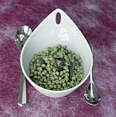 Pea salad with fish