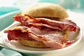 Fried bacon sandwich
