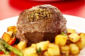 Stuffed Chateaubriand with potatoes