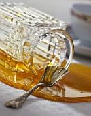 Honey running out of jar