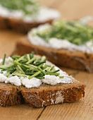 Cream cheese and chive sandwich