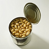 White beans in a tin