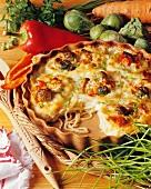Spaghetti and vegetable bake