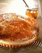 Brioche Tropezienne (yeast cake with vanilla mousse)
