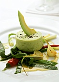 Smoked eel and avocado mousse