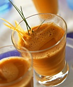 Carrot drink with ginger