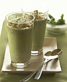 Herb kefir with sprouts