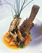 Barramundi with papaya and ginger salsa