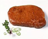 Marinated loin chop without bone