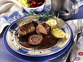 Beef roulade with parsley potatoes