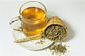Damiana tea and dried herb (Tunera officinalis)