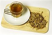 Burdock root tea (Arctium lappa)