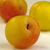 Yellowish-red plums