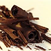 Chocolate shavings and rolls