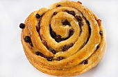 Coiled raisin roll