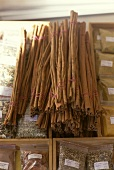 Cinnamon sticks on spice packets