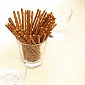 Salted straws in a glass