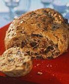 Fruit loaf in yeast dough